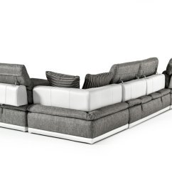 Small Es Configurable Sectional Sofa Black Craigslist Couch Vgftpanoramaabcde In By Vig Furniture David Ferrari Panorama Italian Modern Grey Fabric White Leather
