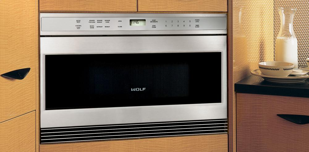wolf microwave built in framed stainless steel mwd302fs