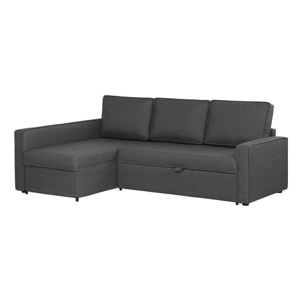 width of a sofa bed com chaise usado sp 100307 in by south shore furniture montreal qc sectional with storage charcoal gray