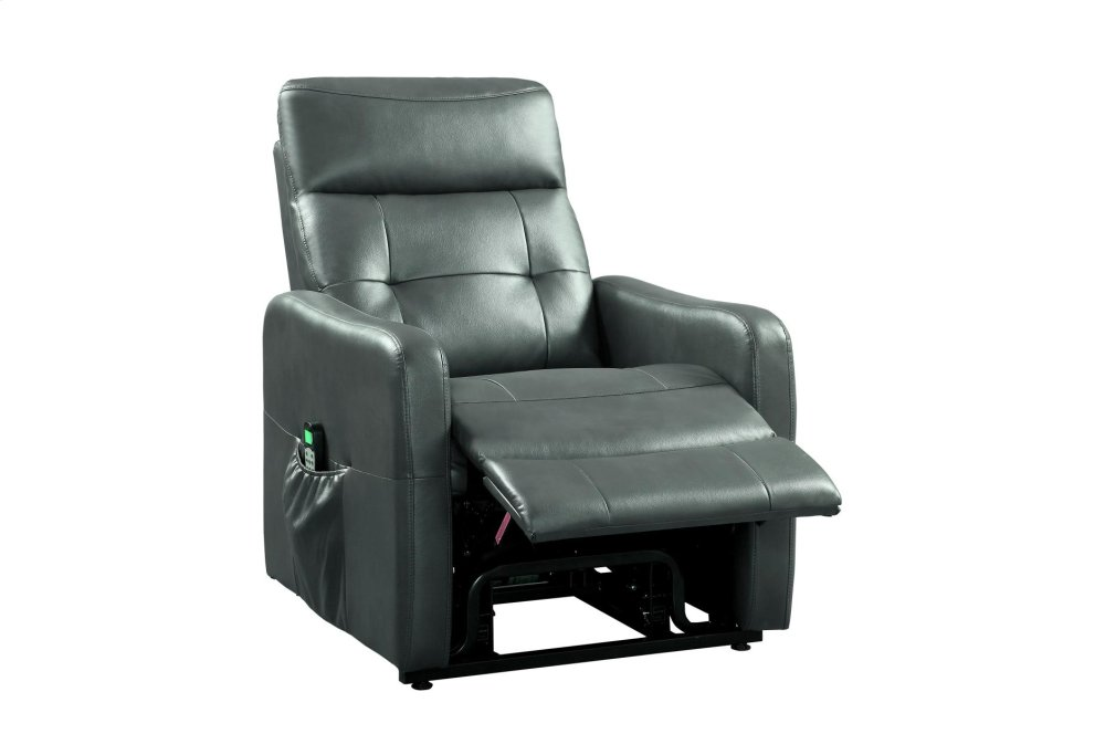 power lift chair office hs code 9860gry1lt in by homelegance orange ca with massage heat gray pu