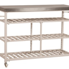 Stainless Kitchen Cart Pan 4701863s3 In By Hillsdale Furniture Orange Ca Kennon 3 Piece Set White With Steel Top