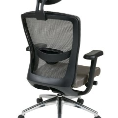 Office Chair Qvc Terry Towel Lounge Covers 511342alhrx52 In By Star Grey Progrid High Back With Headrest