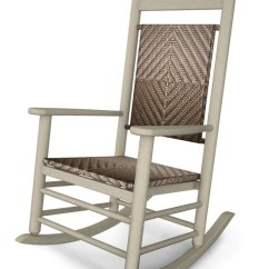 Woven Rocking Chair Lower Back Support K147fsaca In By Polywood Furnishings Sand Cahaba Jefferson