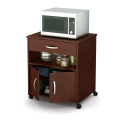 Cherry Kitchen Cart Contemporary Backsplash 10015 In By South Shore Furniture Montreal Qc Microwave On Wheels Royal