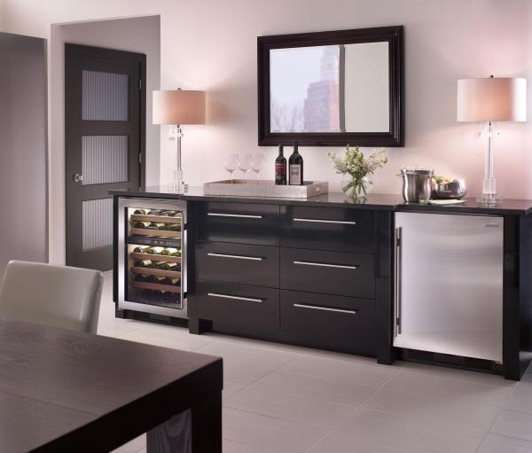 24 Undercounter Refrigerator Freezer with Ice Maker