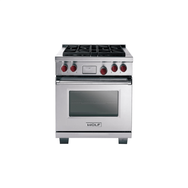Wolf Ranges Dual Fuel Stainless Steel DF304