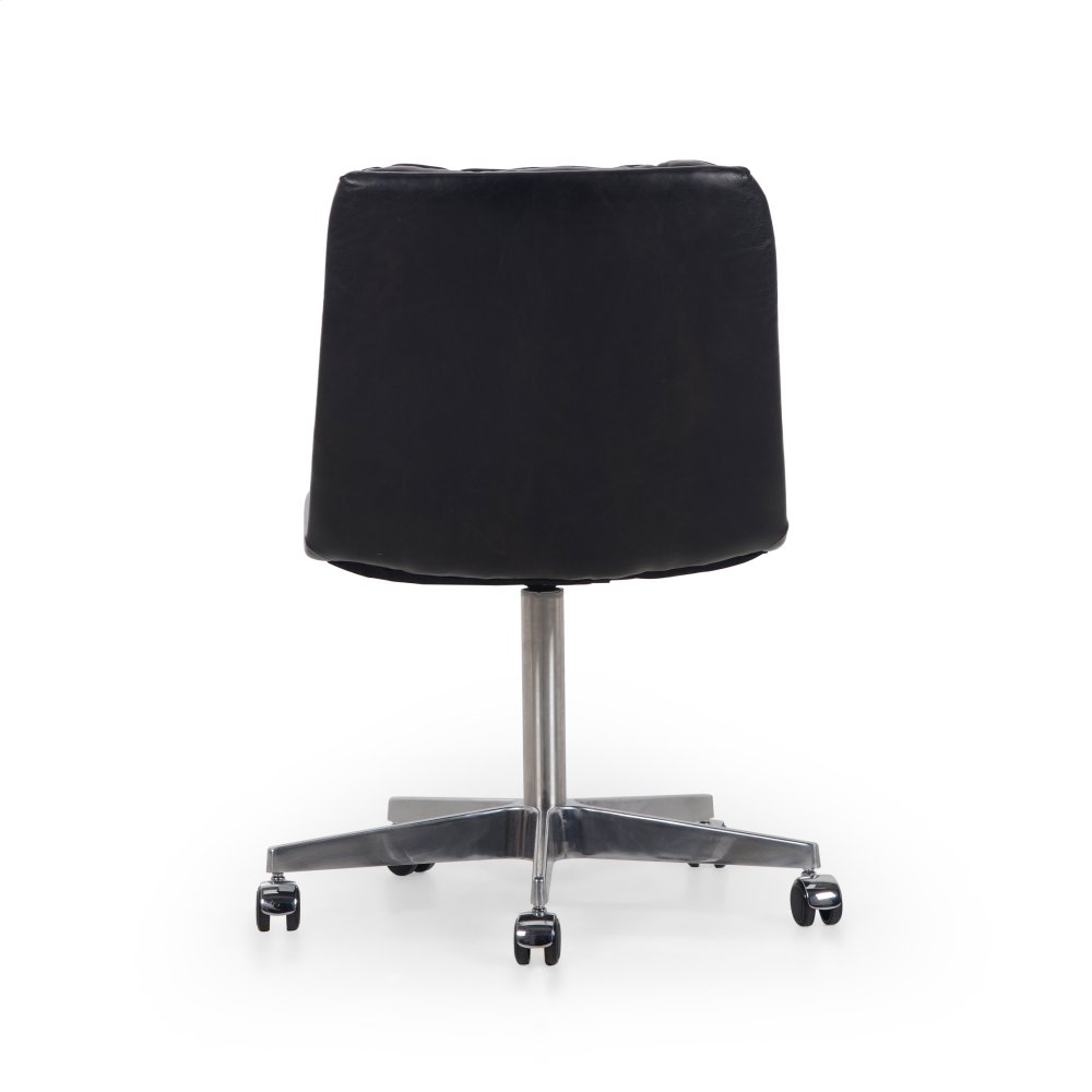 office chair kelowna fabric lawn chairs ccar019rbk in by four hands bc rider black cover additional malibu desk