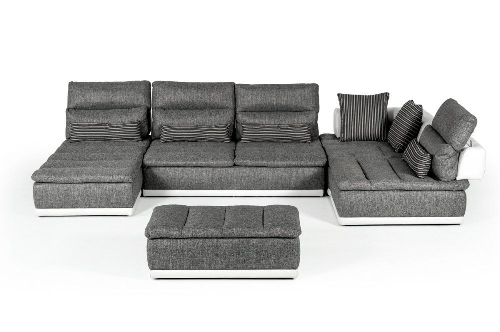 small es configurable sectional sofa black mission leather vgftpanoramaabcde in by vig furniture david ferrari panorama italian modern grey fabric white