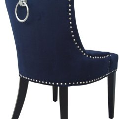Navy Blue Dining Chairs Set Of 2 Square Kitchen Table With 8 Tovd30a In By Tov Furniture Austin Tx Uptown Velvet Chair