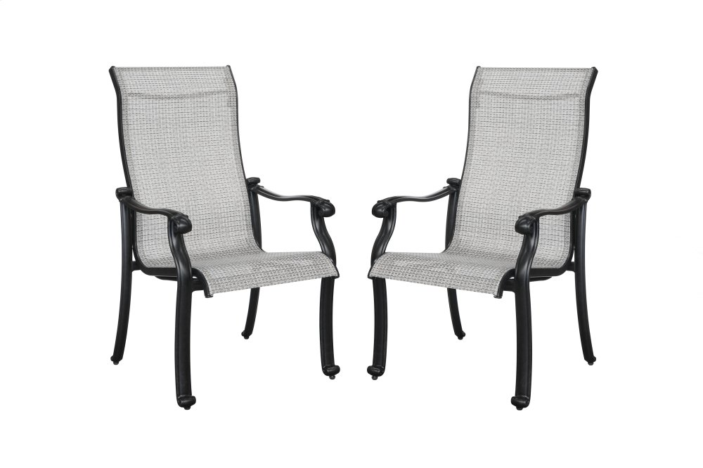 sling chair outdoor patio strap replacement canada od104525 in by emerald home furnishings mesa az versailles grey cover onyx cast aluminum frame od1045 25