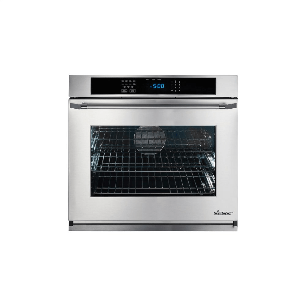 hight resolution of renaissance 27 single wall oven in stainless steel with flush handle