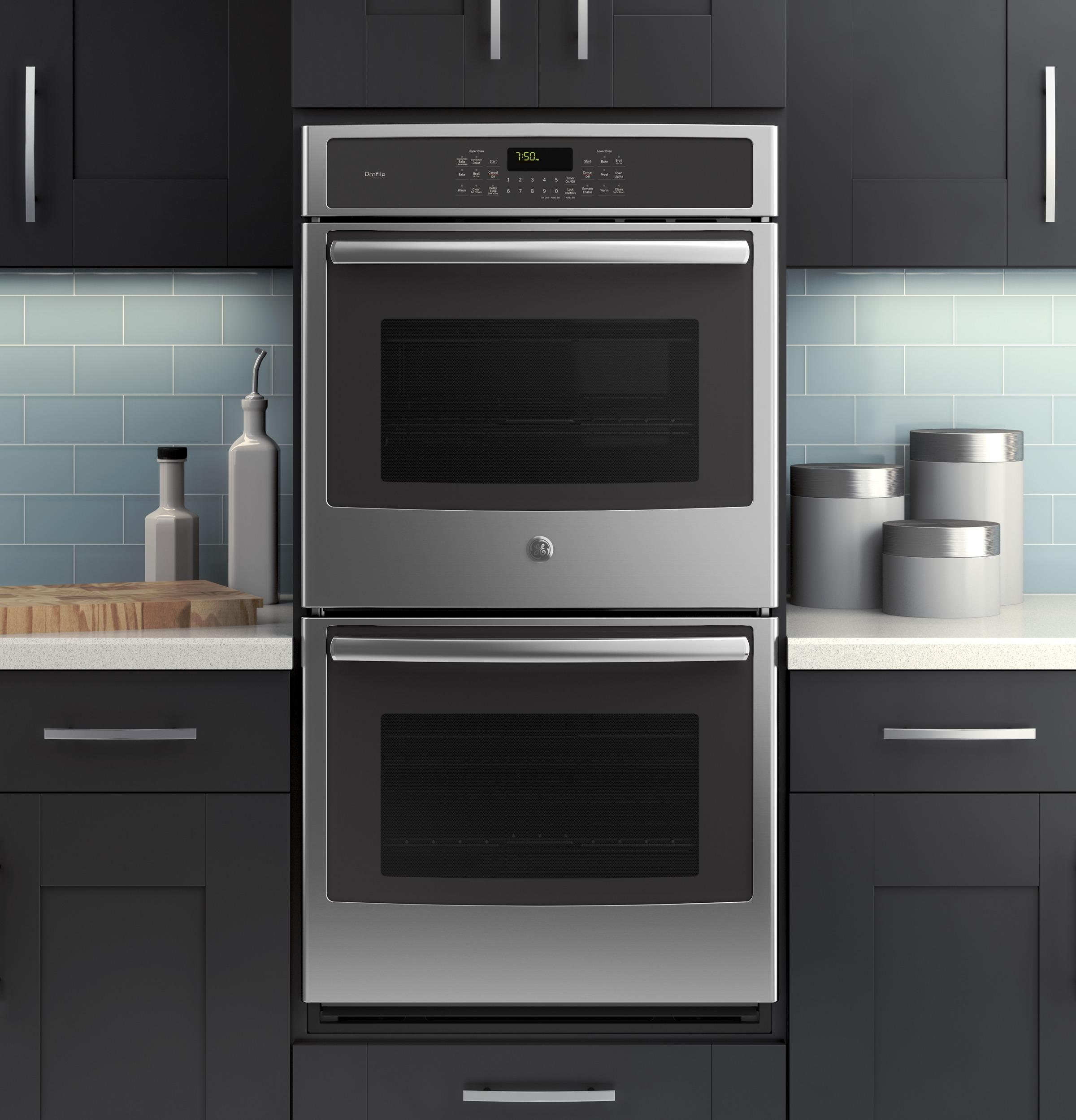 GE Profile Series 27 Builtin Double Wall Oven with