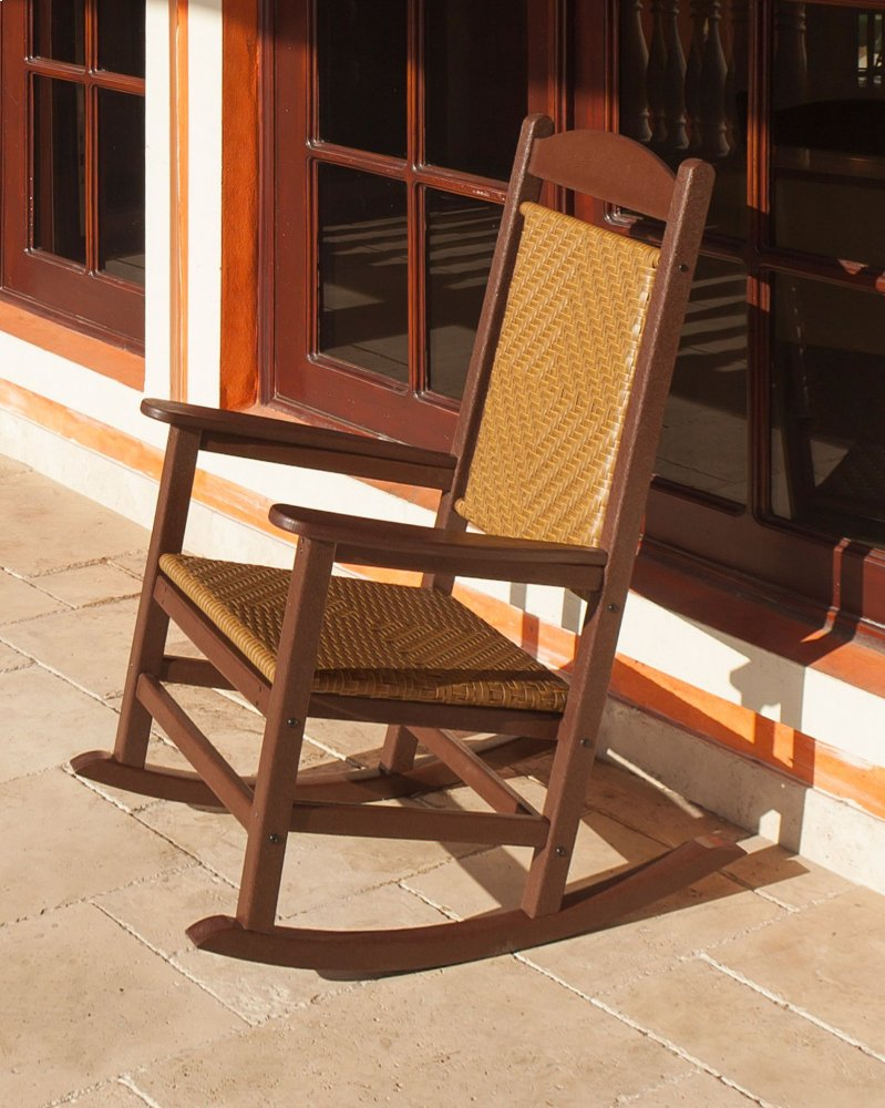woven rocking chair danish modern dining chairs r200fsawl in by polywood furnishings sand white loom presidential