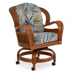 Caster Dining Chairs Fabric Computer Chair Palm3560pgs In By Palm Springs Rattan Chesapeake Va Swivel Tilt 3560