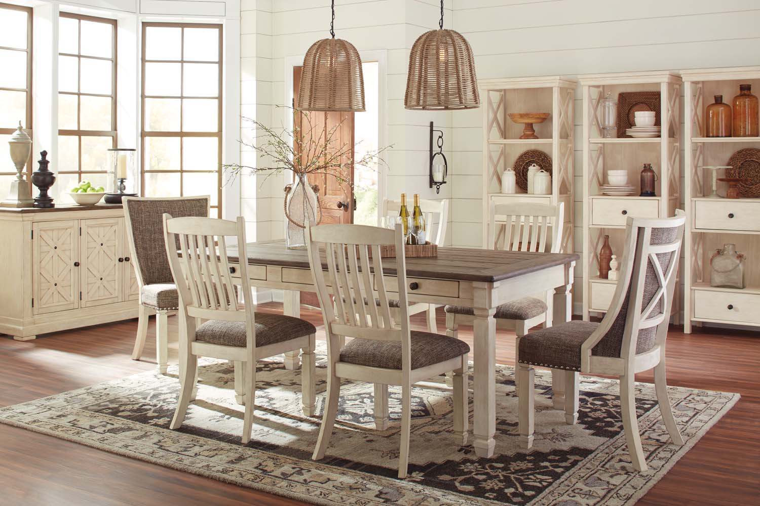 antique white living room tables furniture dark grey sofas d647d8 in by ashley greensboro nc bolanburg 7 piece dining set