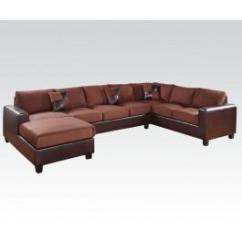 Acme Sectional Sofa Chocolate Best For Pets 56000kit In By Furniture Inc Mooresville Nc Dannis Set Collection