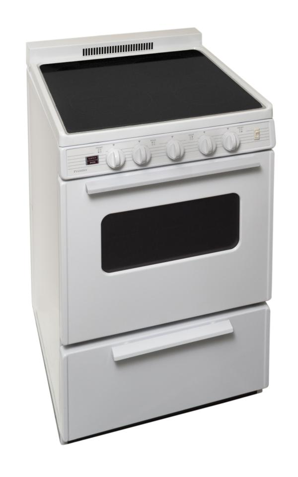 In. Freestanding Smooth Top Electric Range In White