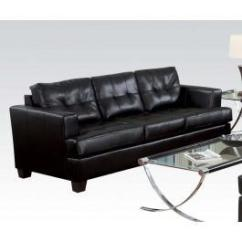 Leather Sofas Tampa Modern Ireland 15090b In By Acme Furniture Inc Fl Black Bonded Sofa