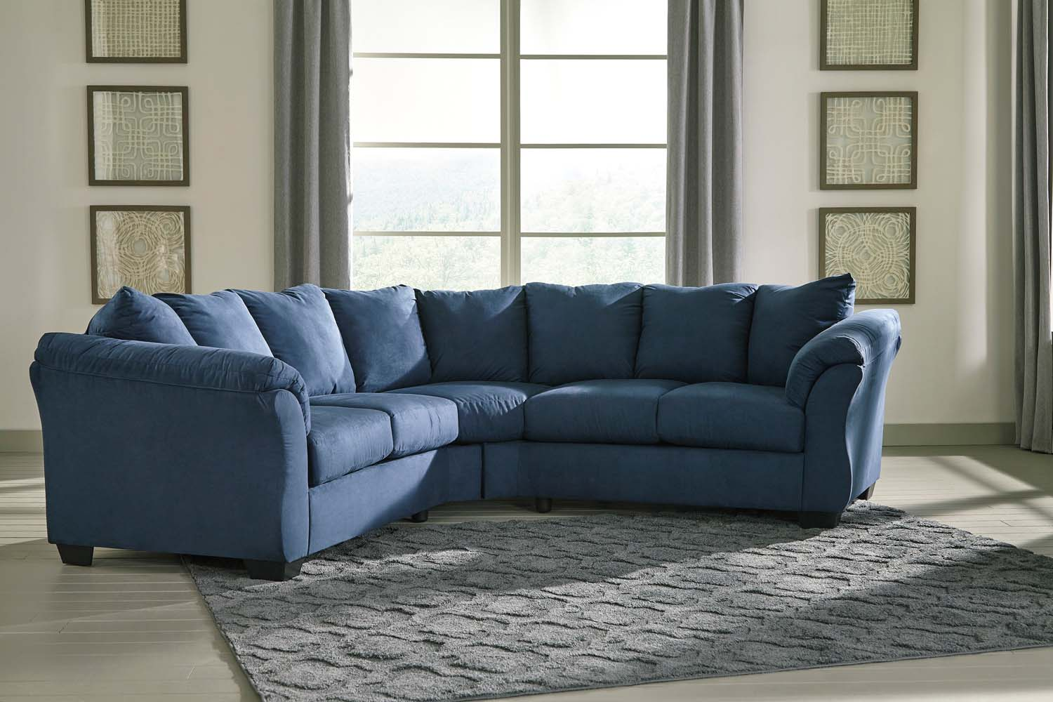blue fl sofa natuzzi siena canada 75007s1 in by ashley furniture kissimmee darcy 2 piece sectional