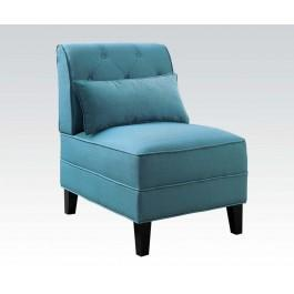 teal accent chair leather dining room chairs 59610 in by acme furniture inc orange ca