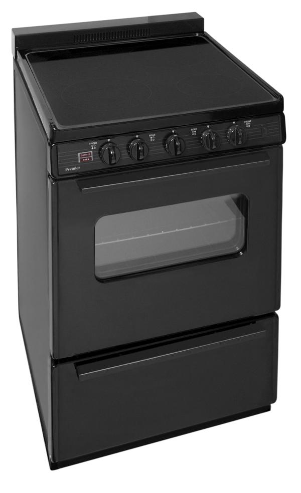 In. Freestanding Smooth Top Electric Range In Black