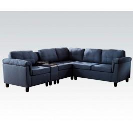 blue fl sofa table furniture row 51525 in by acme inc tampa cleavon sectional