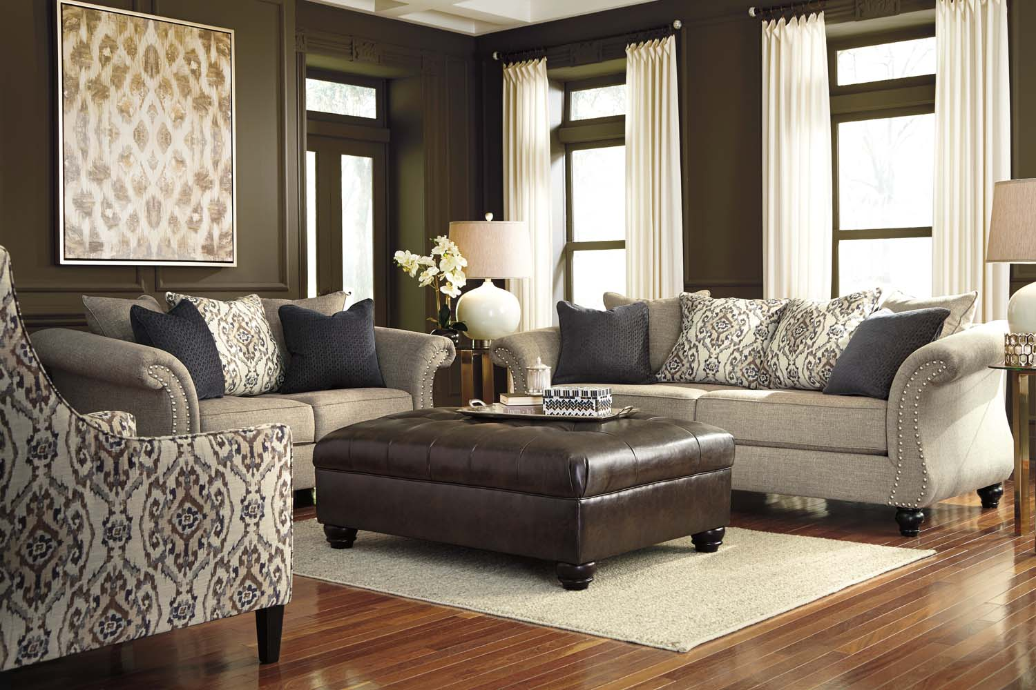 living room sets houston brown leather furniture decor 46101 in by ashley tx jonette stone set texas usa aztec