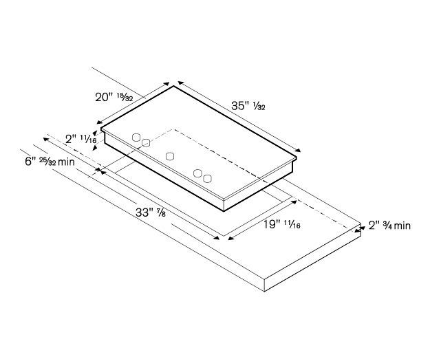 PM360IGX Bertazzoni 36 Segmented Cooktop 5 induction zones