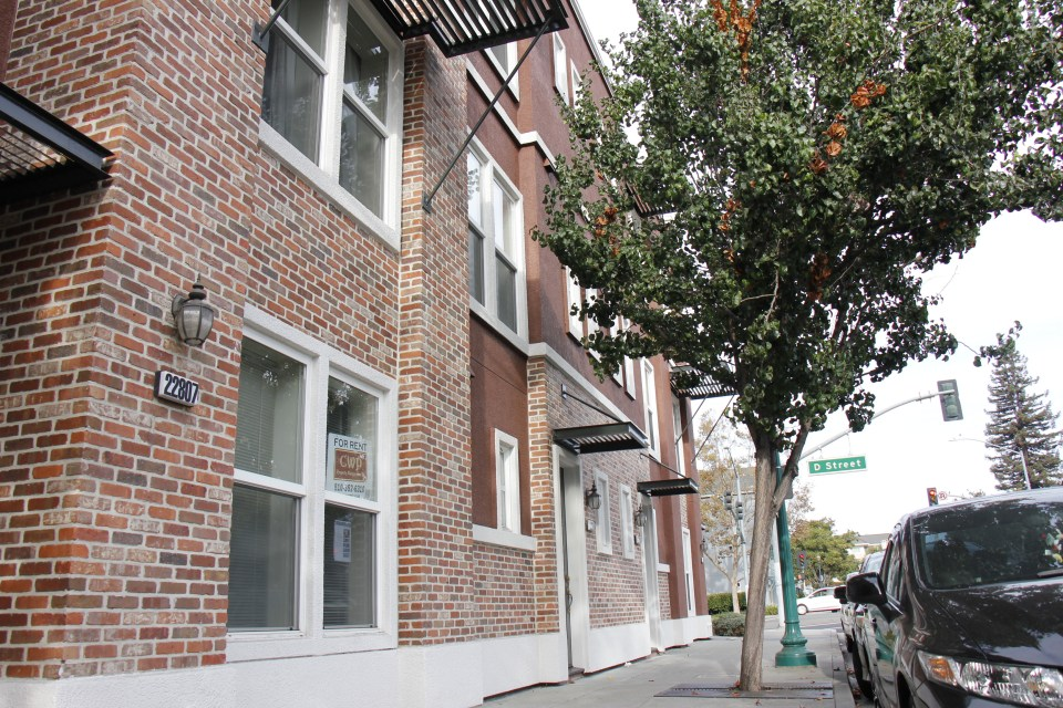 Brick apartment for rent located on D street.