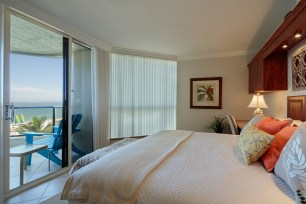 Bedroom with beach view