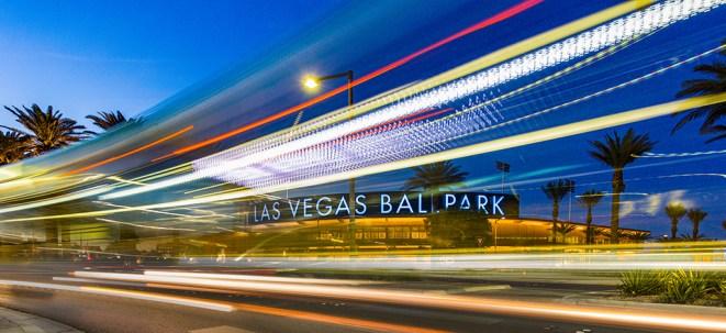 Bus going by Las Vegas Ballpark