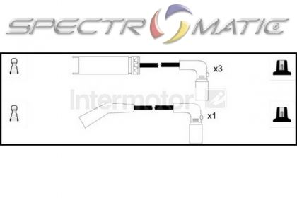 SPECTROMATIC LTD: 73667 ignition cable leads kit CHEVROLET
