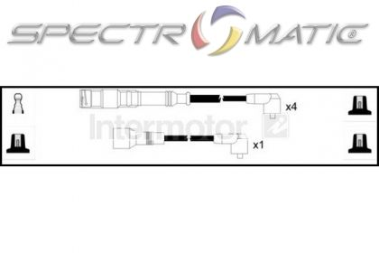 SPECTROMATIC LTD: 73771 ignition cable leads kit AUDI A4