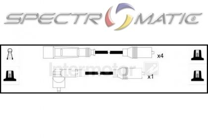 SPECTROMATIC LTD: 76166 ignition cable kit leads AUDI 100