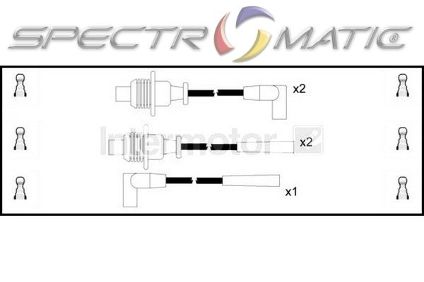 SPECTROMATIC LTD: 73251 ignition cable leads kit CITROEN