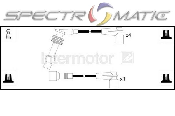 73312 ignition cable leads kit OPEL COMBO CORSA B C14NZ