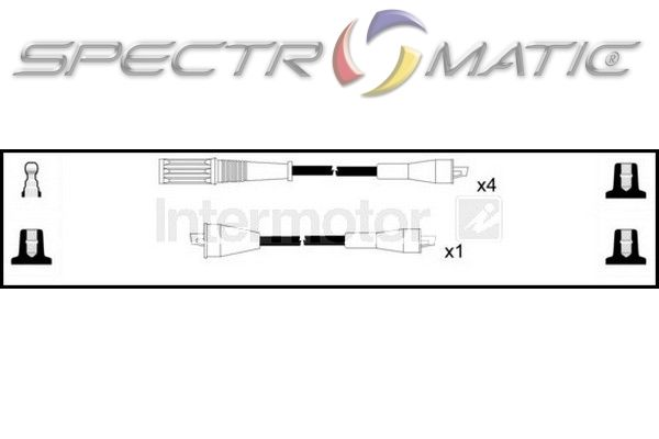 SPECTROMATIC LTD: 73344 ignition cable leads kit FIAT