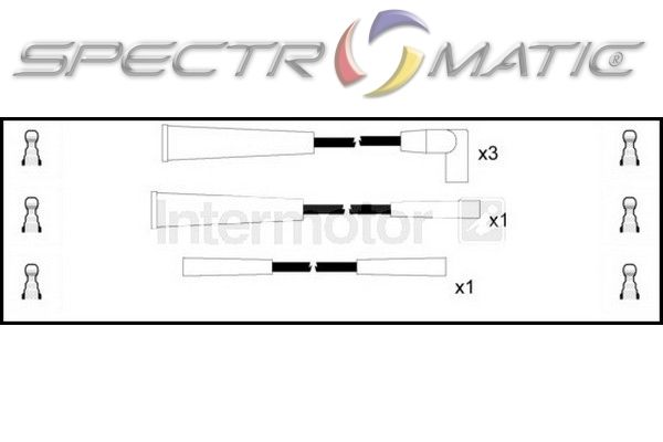 SPECTROMATIC LTD: 73461 ignition cable leads kit CITROEN