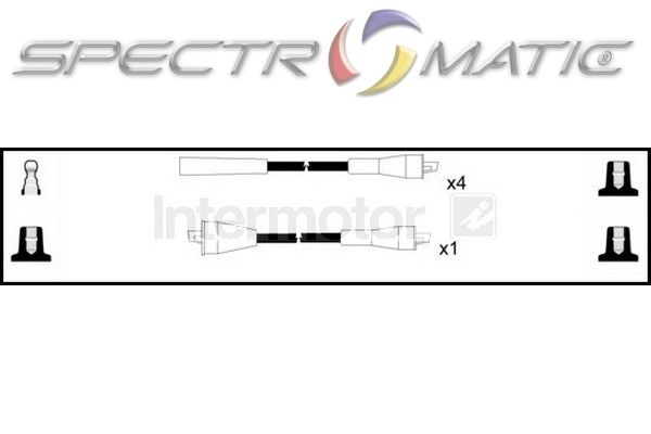 SPECTROMATIC LTD: 73468 ignition cable leads kit FIAT