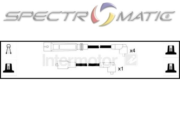 SPECTROMATIC LTD: 73476 ignition cable leads kit SKODA