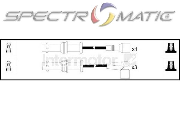 SPECTROMATIC LTD: 73493 ignition cable leads kit SUBARU