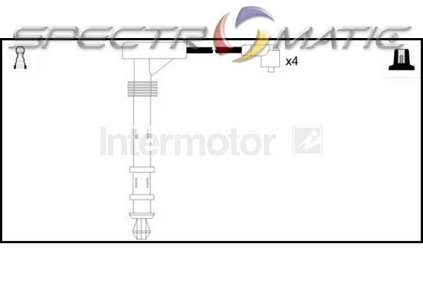 SPECTROMATIC LTD: 73523 ignition cable leads kit FIAT