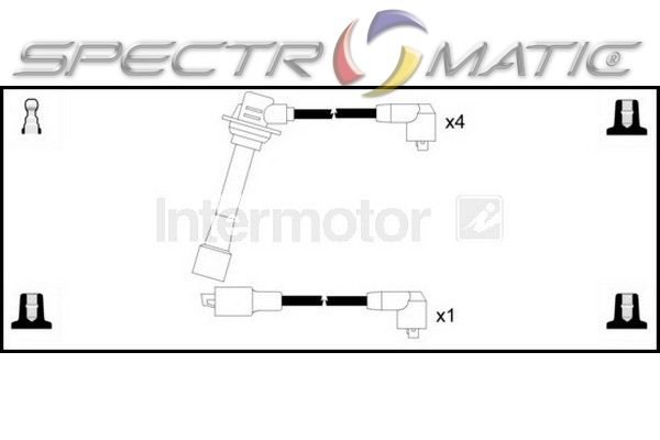 SPECTROMATIC LTD: 73562 ignition cable leads kit MAZDA 323