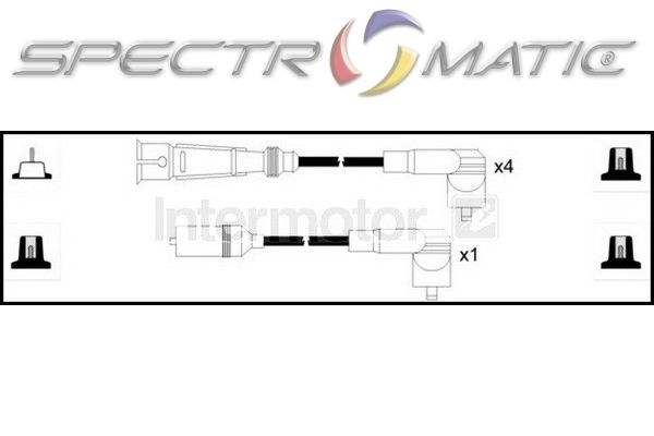 SPECTROMATIC LTD: 73643 ignition cable leads kit VW GOLF