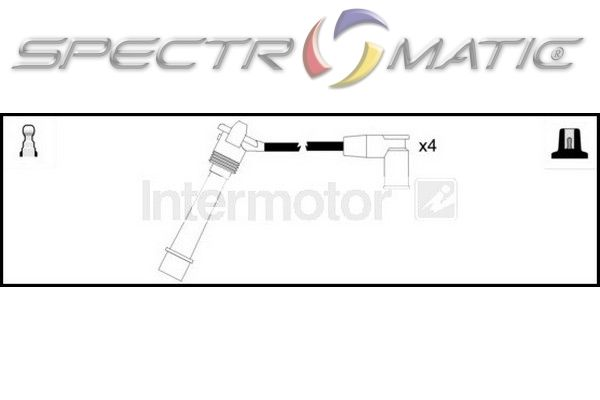 SPECTROMATIC LTD: 73741 ignition cable leads kit FIAT
