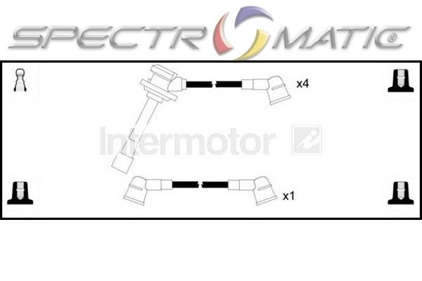 76306 ignition cable kit leads KIA CLARUS 2.0 FE 16V K9A