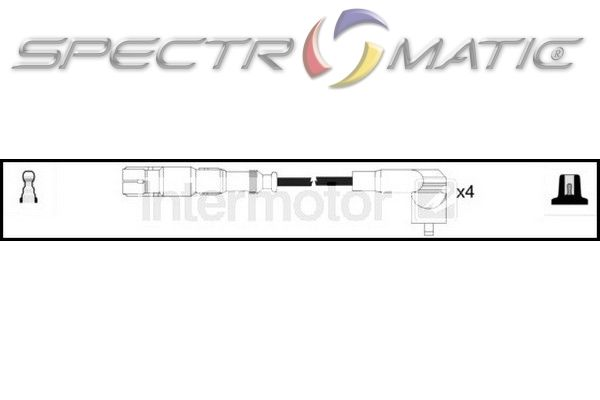 SPECTROMATIC LTD: 76191 ignition cable kit SEAT AROSA 1.0