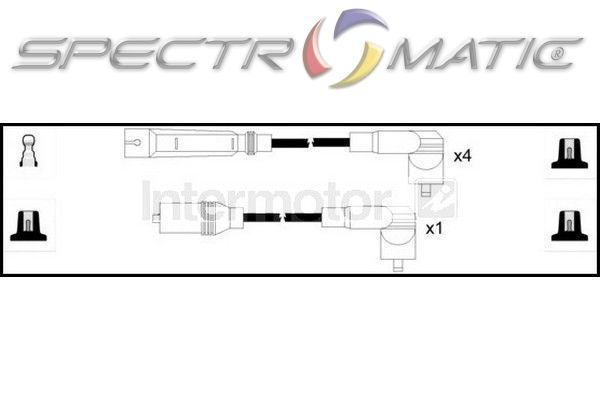 SPECTROMATIC LTD: 76261 ignition cable kit leads VW GOLF 3