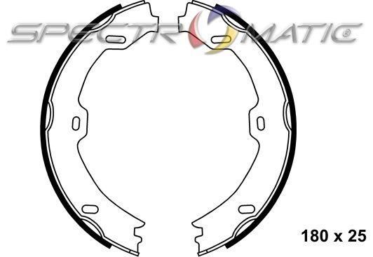 SPECTROMATIC LTD: OE 230 420 03 20 brake shoe set parking