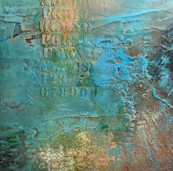 Mixed Media Paintings On Canvas Crackle Gel